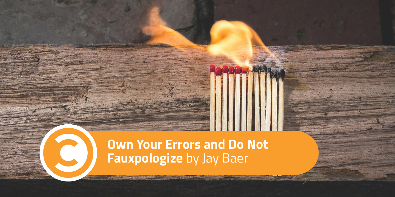 Own Your Errors and Do Not Fauxpologize