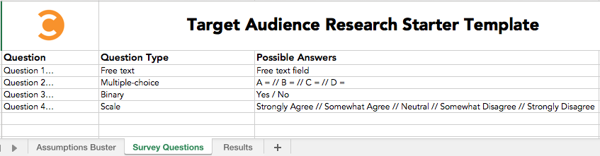 Target Audience Research Starter Template 2