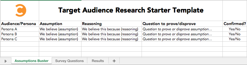 Target Audience Research Starter Template