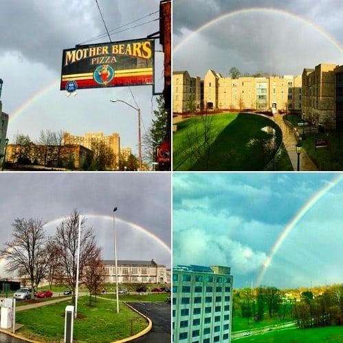 IU Bloomington rainbows Instagram posts