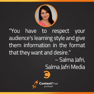Why Salma Jafri Builds Content Strategy Around Video First