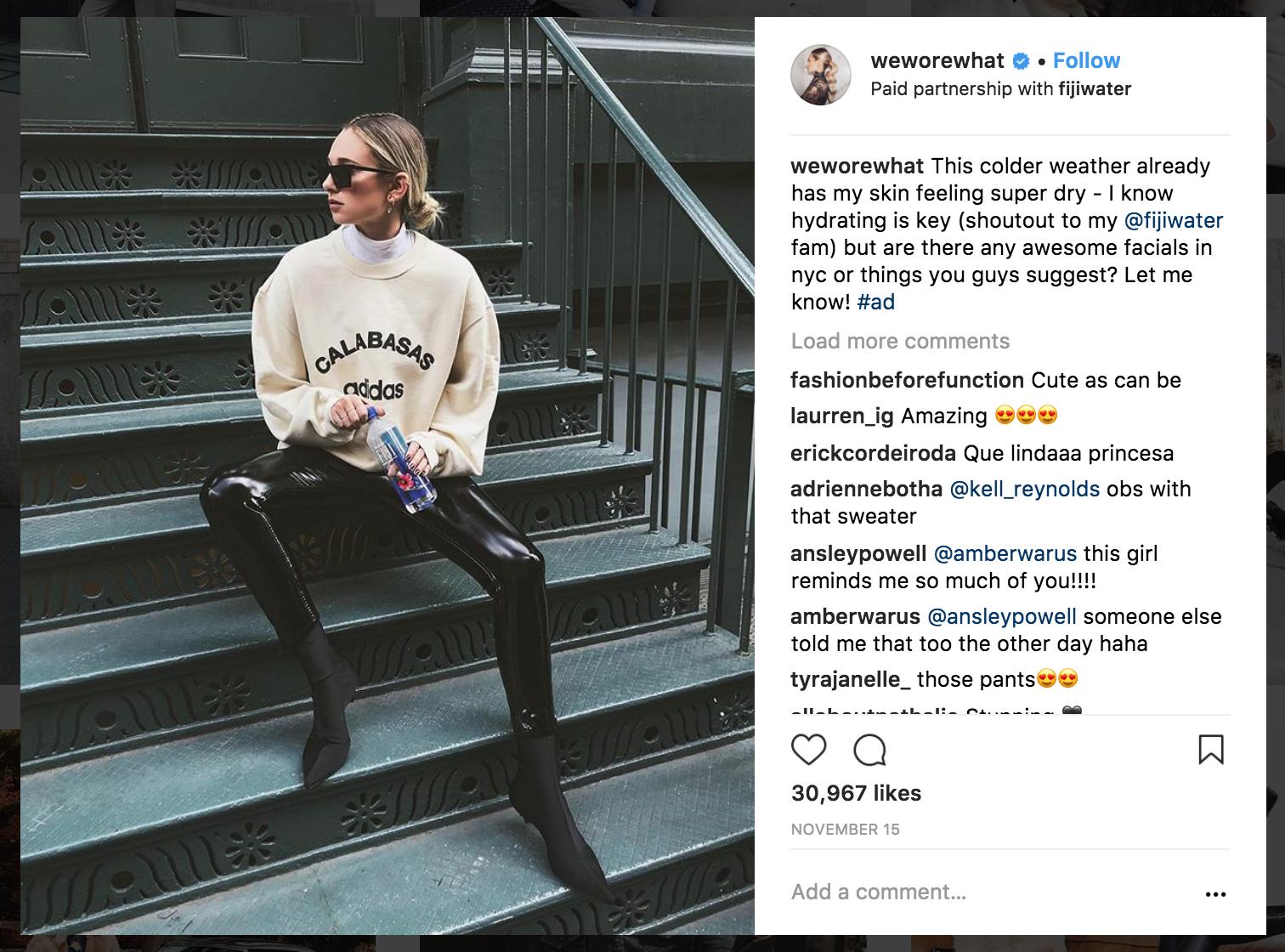 Instagram endorsement disclosure
