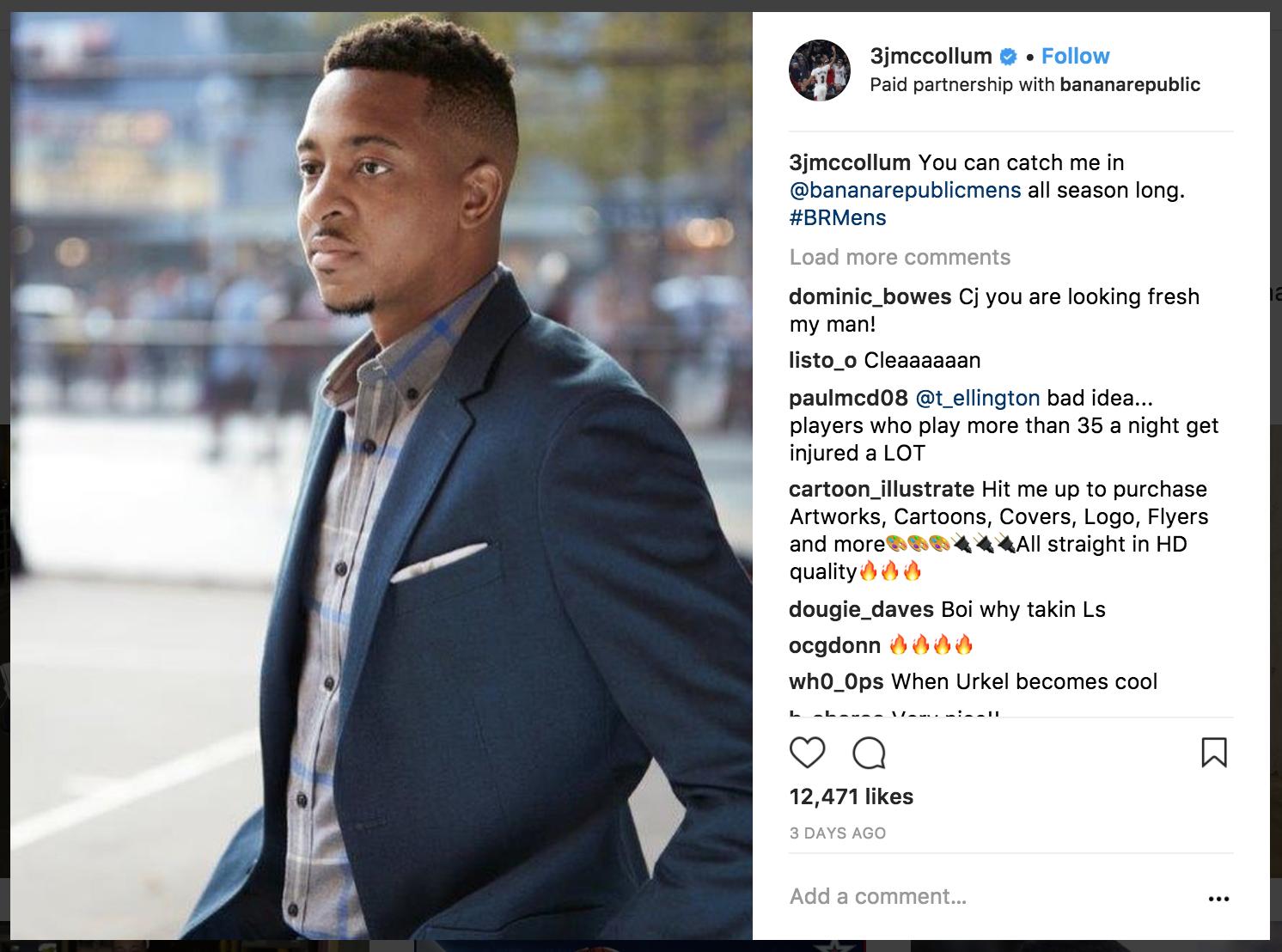Instagram paid sponsorship