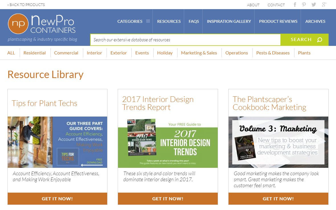NewPro Resource Library