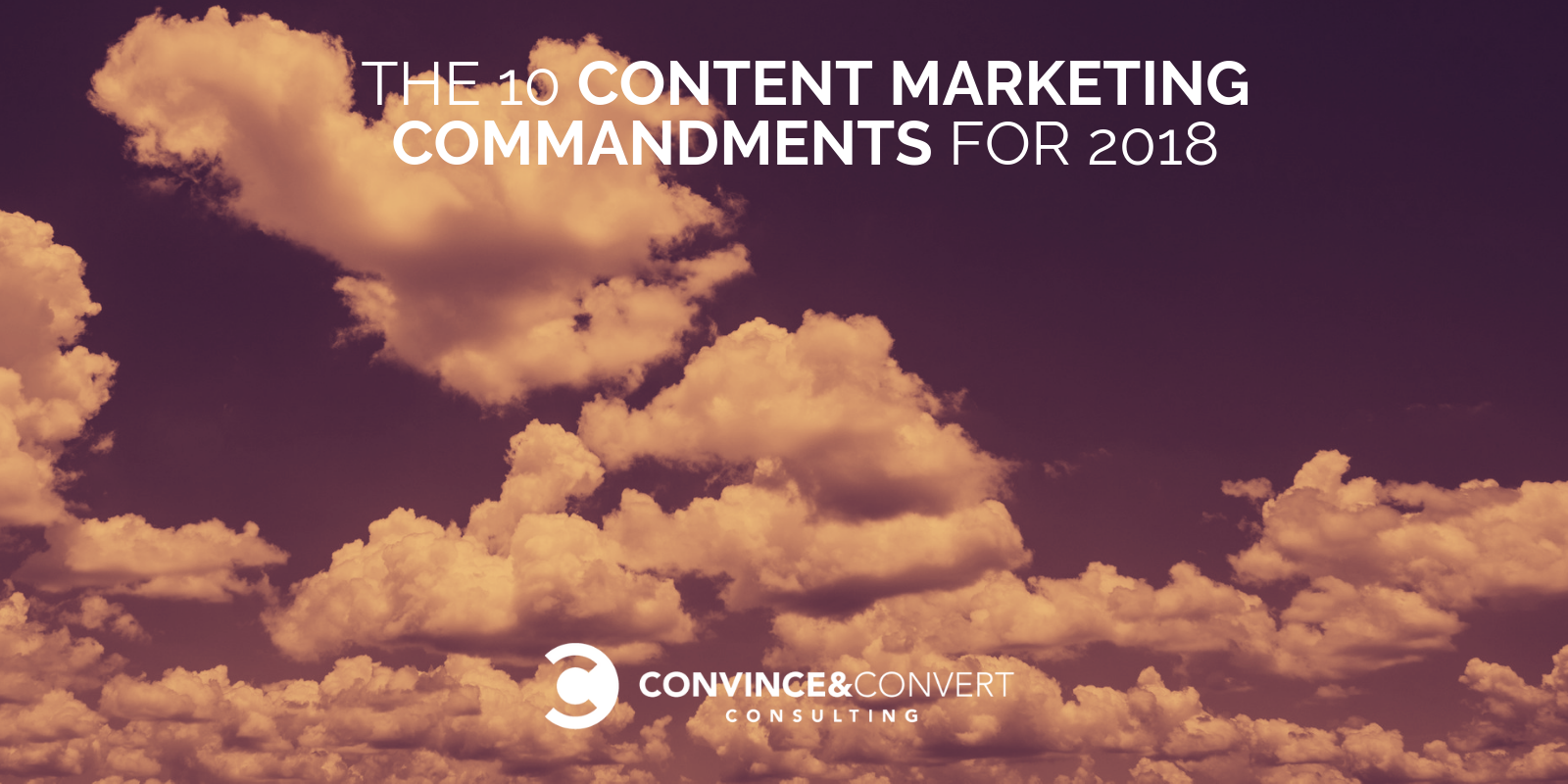 content marketing commandments