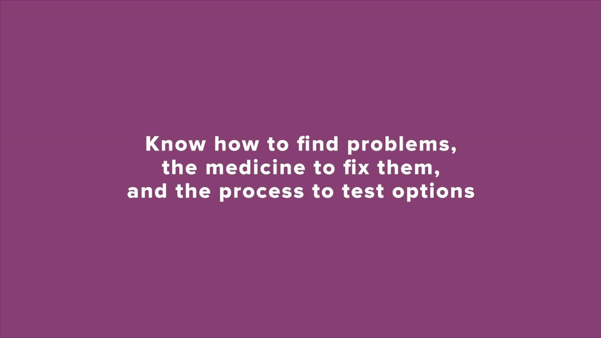 Know how to find problems