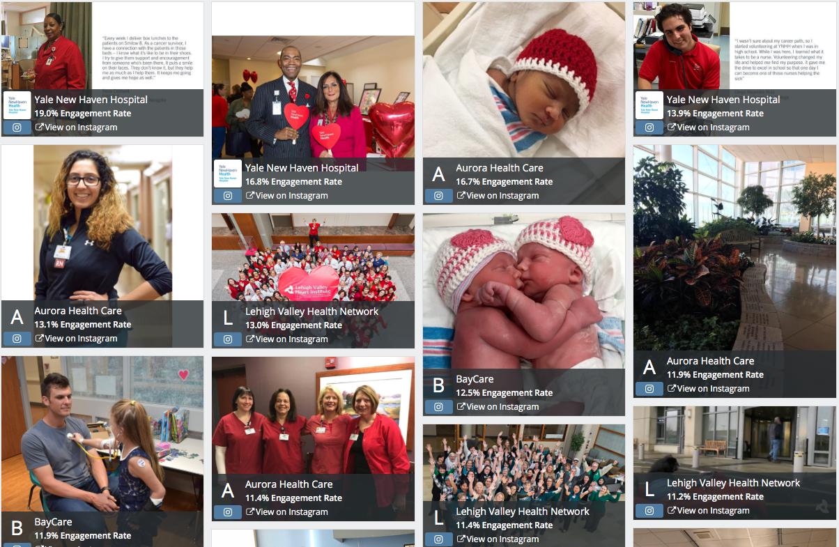 Top hospital Instagram posts