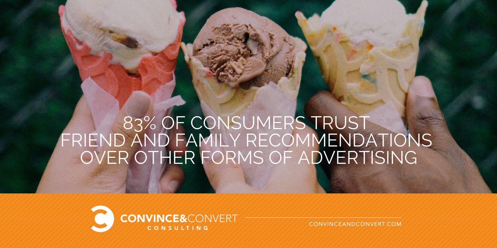 83 percent of consumers trust friends and family