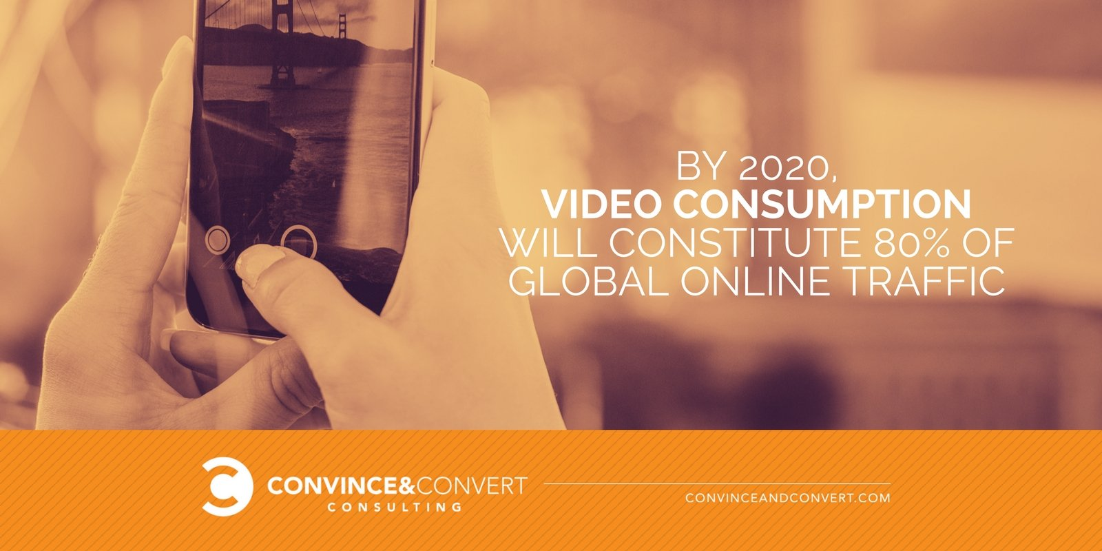 Video will constitute 80 percent of traffic by 2020