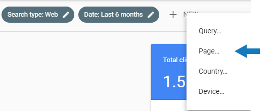 Filter by Page Google Search Console