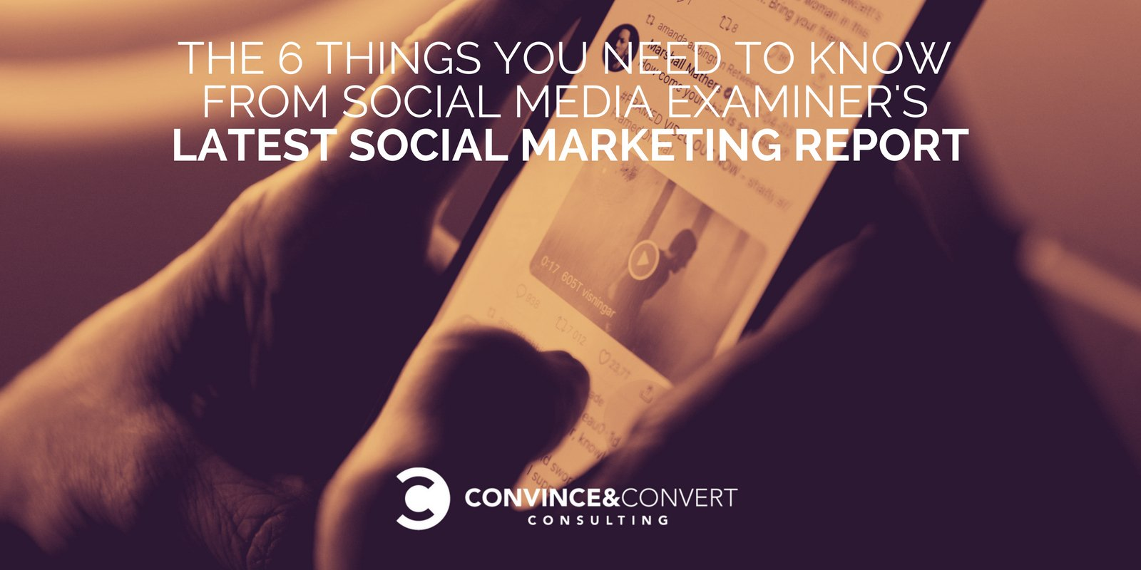 The 6 Things You Need to Know from Social Media Examiners Latest Social Marketing Report