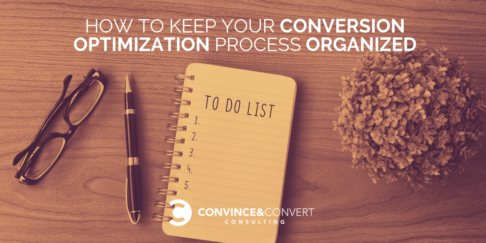 conversion optimization process organized