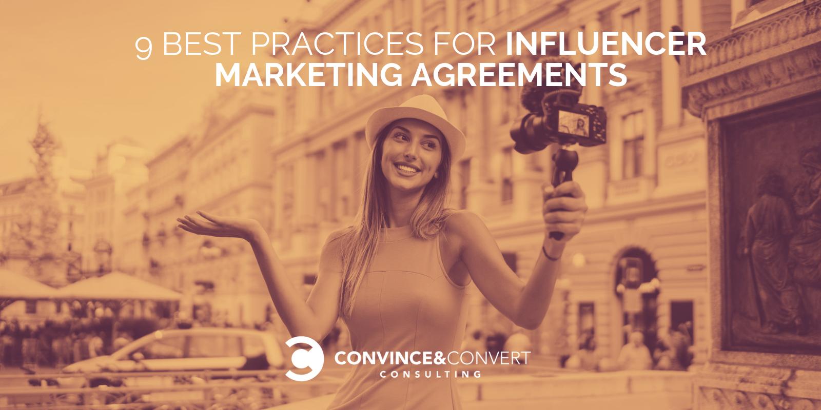 influencer marketing agreements