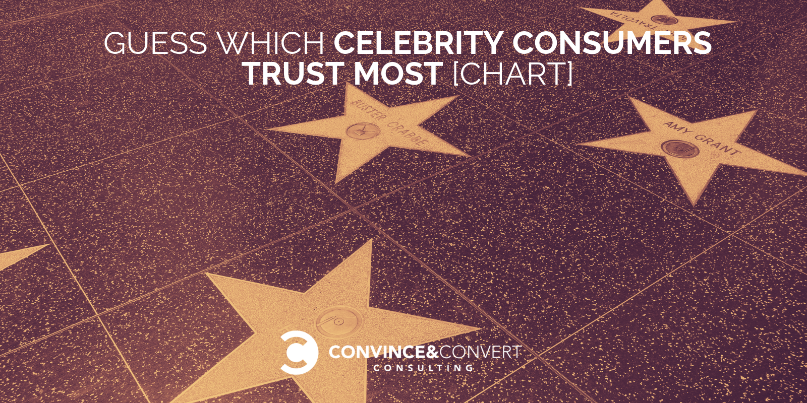 celebrity consumers trust most