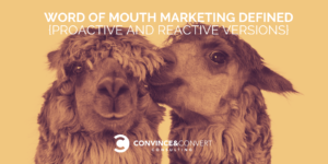 Word of Mouth Marketing Defined