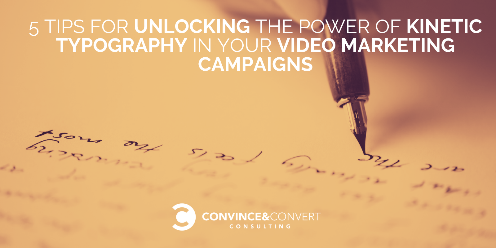 5 Tips for Unlocking the Power of Kinetic Typography in Your Video Marketing Campaigns
