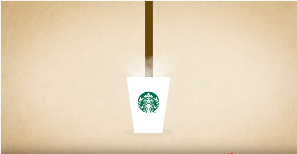 Starbucks kinetic typography example