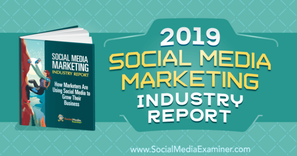 social media marketers use of social media 2019