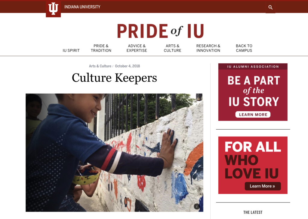 Pride of IU: Content Marketing Example