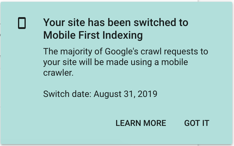 mobile first indexing example