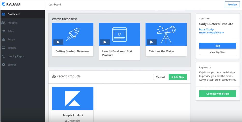 Content Marketing Tool: Kajabi