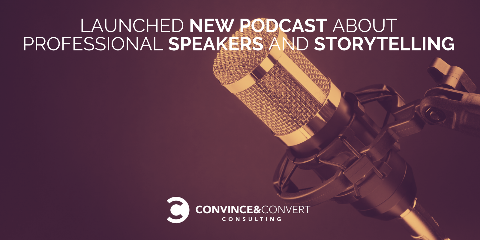 Launched New Podcast About Professional Speakers and Storytelling