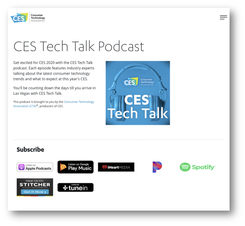 B2B Content Example from CES