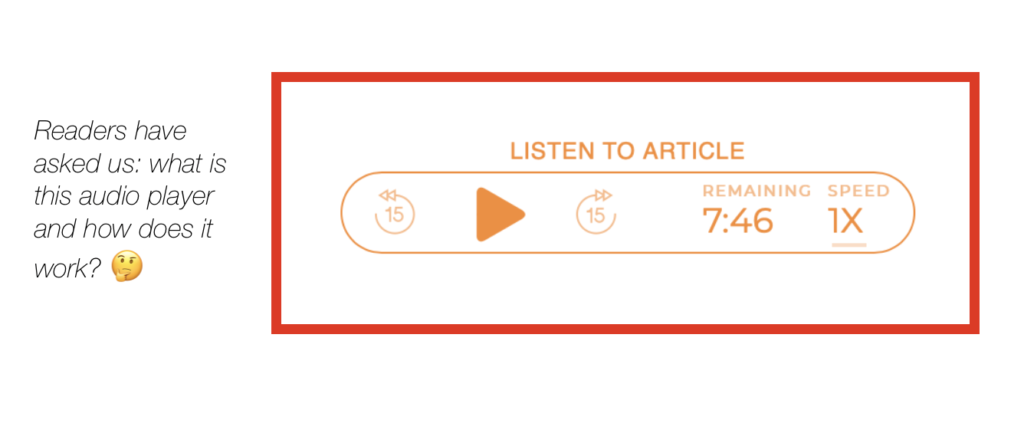 audio articles widget