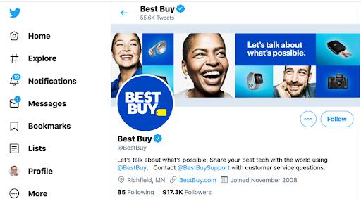 best buy twitter bio