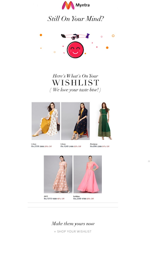 Myntra Smart Content Example
