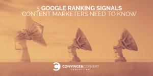 Google Ranking Signals