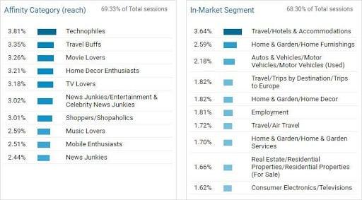 Google Analytics interest