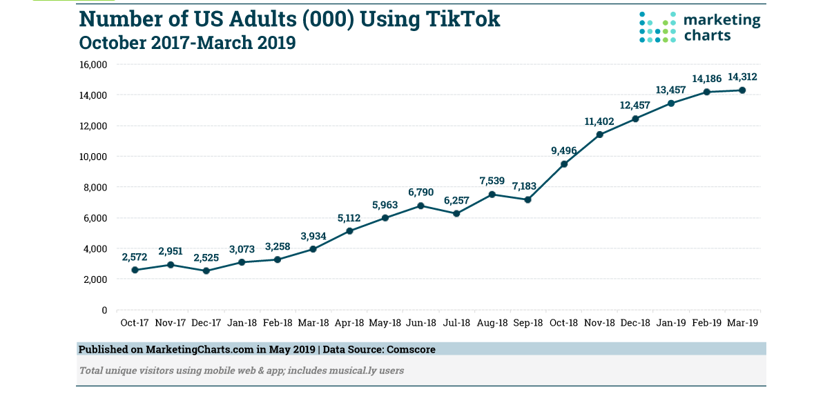 TikTok Statistics Adult Growth