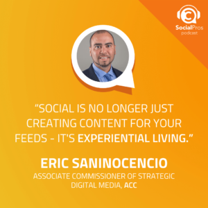 """""""Social is no longer just creating content for your feeds - It's experiential living."""""""