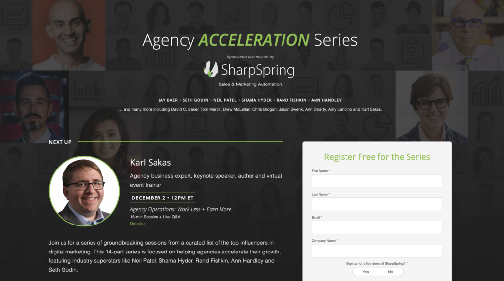 Agency Acceleration Series from SharpSpring