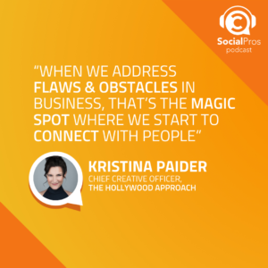 """""""When we address flaws & obstacles in business, that's the magic spot where we start to connect with people"""""""