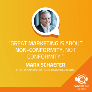 """""""Great marketing is about non-conformity, not conformity."""""""