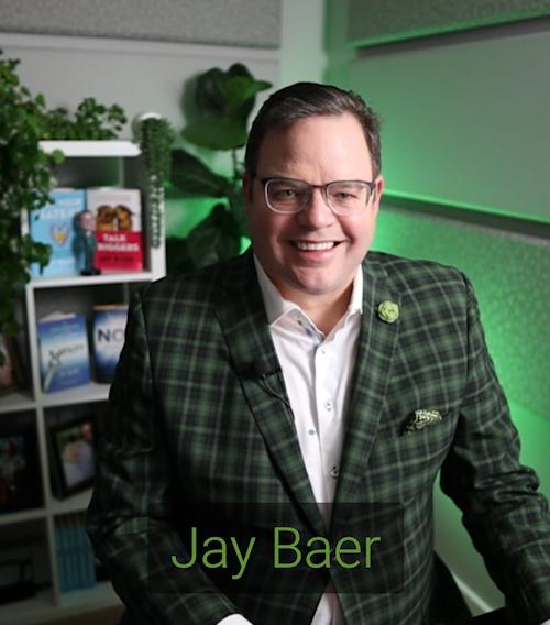 Jay Baer presenting a webinar for SharpSpring
