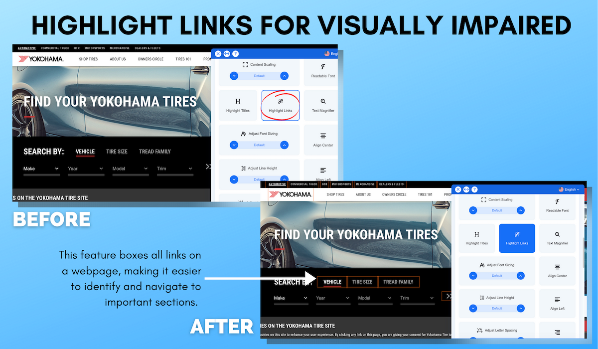 Yokohama Accessible Website Example