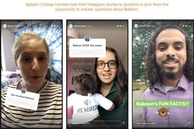 an example of user-generated content from Babson College