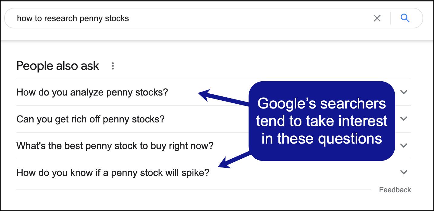 Una muestra de personas en los resultados de búsqueda también pregunta