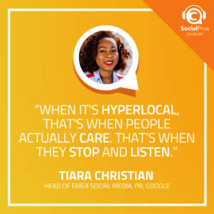 """""""When it's hyperlocal, that's when people actually care. That's when they stop and listen."""""""