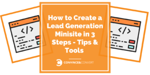 How to Create a Lead Generation Minisite Banner